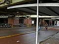 Beneath the old riveted train-viaduct, east of Central Station, in Amsterdam 2006.jpg