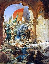 II. Mehmed ve askerleri İstanbul'a girerken