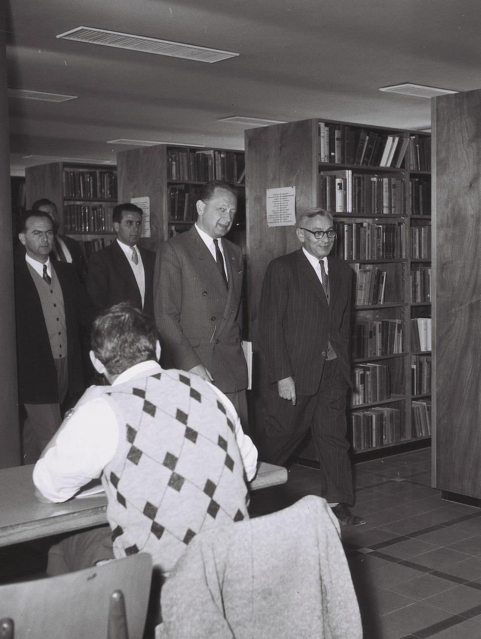 Benjamin Mazar - Dag Hammarskjold 1959