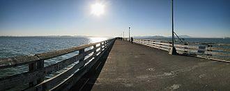 Berkeley Pier - View from the deck of the pier westward