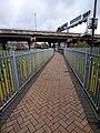 Bescot Stadium Station - sculpture railings along path to the car park (24332732878).jpg
