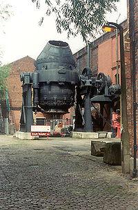 A Bessemer converter in Sheffield, England.