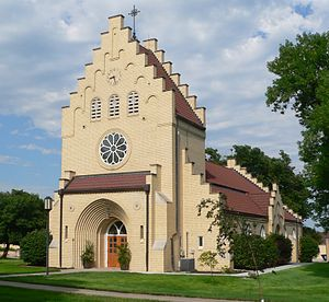 National Register of Historic Places listings in Kearney County, Nebraska - Image: Bethphage (Axtell, NE) Zion Chapel from SW 1