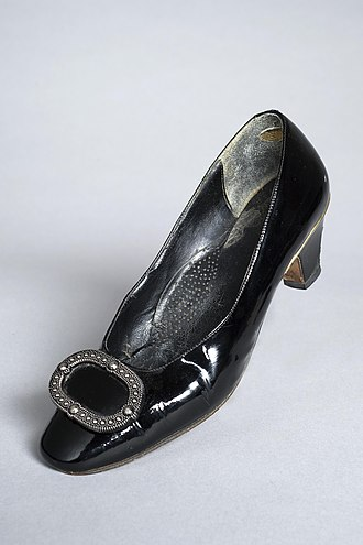 Betty Boothroyd - Boothroyd's Speaker's shoe in the Women's Library
