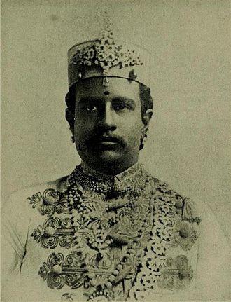 Ramnad estate - Raja of Ramnad Bhaskara Sethupathy (1889–1903)