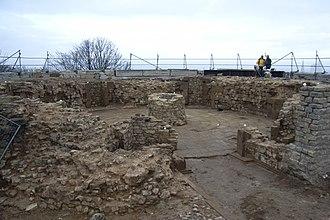 Sparrenberg Castle - Excavation site at the Kiekstatt roundel