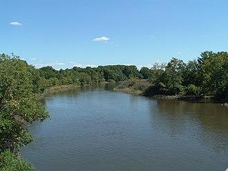 Big Timber Creek - Main stem, looking upstream (2007)