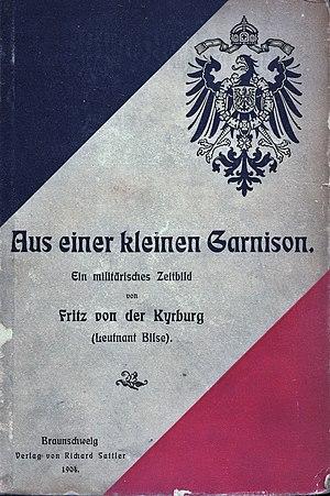 Fritz Oswald Bilse - Cover of Aus einer kleinen Garnison, 1904 edition