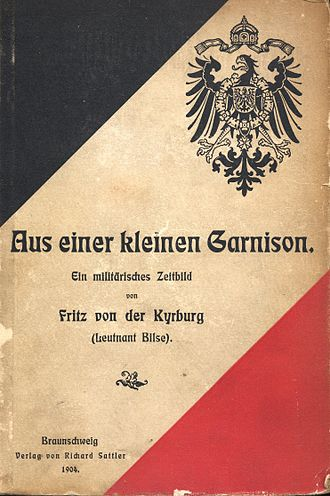 Fritz Oswald Bilse - Cover of Aus einer kleinen Garnison, 1904 edition