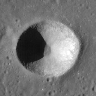 Biot (crater) - Photo by Lunar Reconnaissance Orbiter