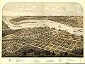 Birds eye view of the city of Port Huron, Sarnia & Gratiot, St. Clair Co., Michigan 1867 & Point Edwards, Lambton Co., Canada west. LOC 73693443.jpg