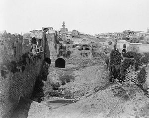 Birket Israel - The empty reservoir in the late 19th century
