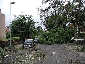 TORRO scale - Image: Birmingham tornado 2005 damage