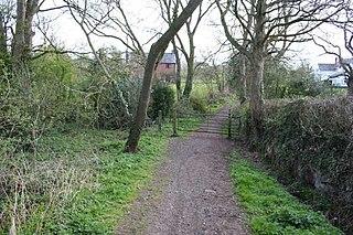 Cuddington Heath village in the United Kingdom