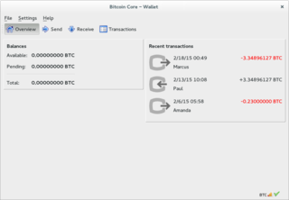 Bitcoin Core Cryptocurrency wallet software