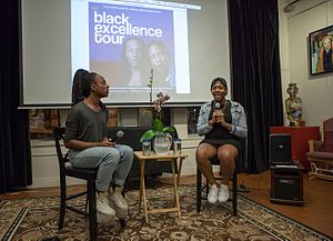 CeCe McDonald - McDonald with activist Joshua Allen on their Black Excellence Tour.