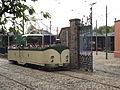 Blackpool Boat Car 236 - National Tramway Museum - Crich - Birmingham Wholesale Market Hall gate (15363383815).jpg