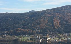 View across Lake Ossiach