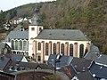 Blick von Burg Hengebach auf die Kirchen St. Salvator und St. Clemens - panoramio.jpg