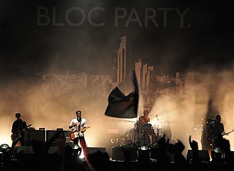 Intimacy (Bloc Party album) - Bloc Party during a performance of songs from Intimacy at the 2008 Reading Festival days after the album's online release