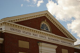Bloomsburg, Pennsylvania - Top of the Bloomsburg post office