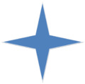 Blue 4 Point Star.png