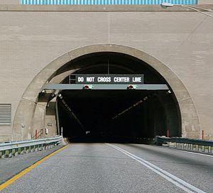 Blue Mountain (Pennsylvania) - The western portal of the eastbound Blue Mountain Tunnel.