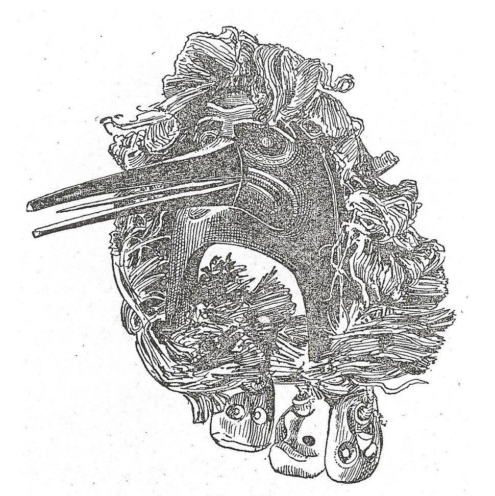 Boas Kwakiutl mask drawing - cropped