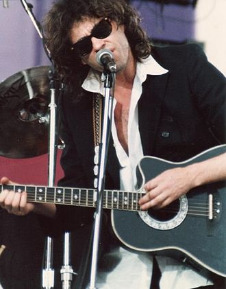 A Conspiracy of Hope - Bob Geldof performing at the Conspiracy of Hope concert on June 15, 1986, in East Rutherford, New Jersey.