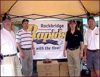 Ben Cline - Cline and Bob Goodlatte at the Rockbridge Community Festival in August 2008
