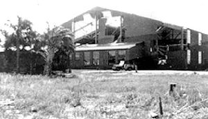 Boca Raton Army Air Field - Destroyed aircraft hangar after hurricane - 1947