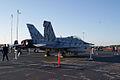 Boeing FA-18F Super Hornet Tigerstripe RSideRear MacDill AirFest 5Oct2011 (14512978240).jpg