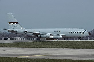 Boeing WC-135 Constant Phoenix - A WC-135B at Fairford in 1988. This aircraft remains in service as a WC-135W.