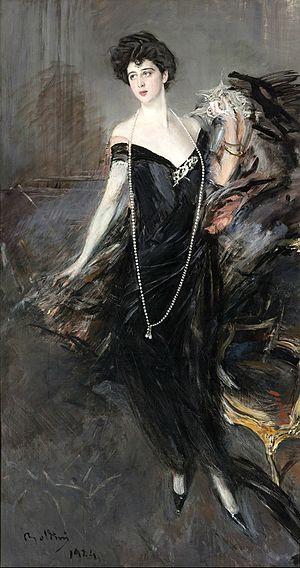 """Franca Florio - Giovanni Boldini, """"Portrait of Franca Florio""""."""