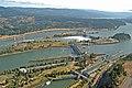 Bonneville Dam with Corner Collector in mid upper left of shot (11971704493).jpg