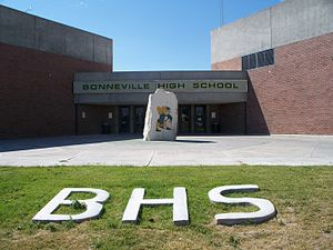 Ammon, Idaho - Southeast Entrance of Bonneville High School