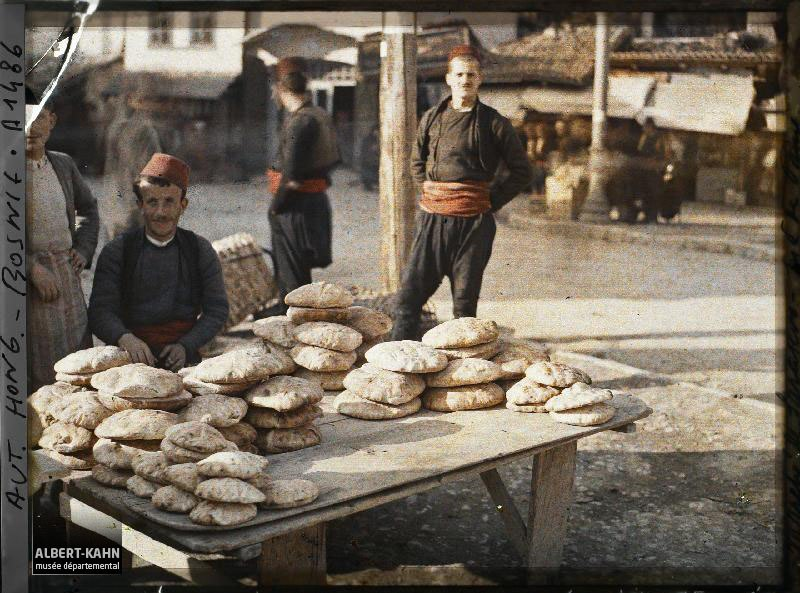 Bosnian bread merchant