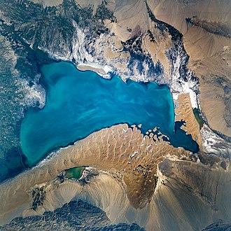 Bosten Lake - Satellite picture (2 November 2004)