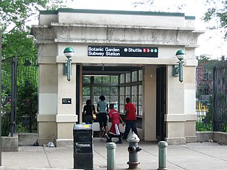 Franklin Avenue/Botanic Garden (New York City Subway) - Entrance to the BMT station