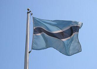 Fatshe leno la rona - Image: Botswana flag