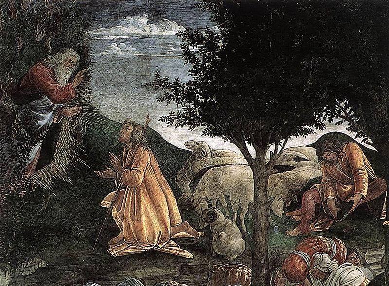 Archivo:. Botticelli, Escenas de la vida de Moisés (detalle 2) jpg