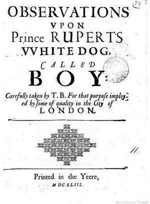 Boy (dog) - Pro-Parliamentary Pamphlet of 1643