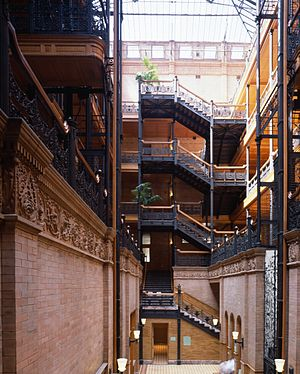 Blade Runner (franchise) - The Bradbury Building in Los Angeles was a filming location.