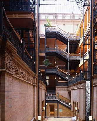 Atrium (architecture) - Image: Bradbury building Los Angeles c 2005 01403u
