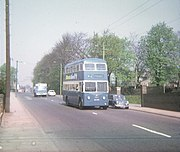 Bradford Trolleybus in Leeds Road, Greengates - geograph.org.uk - 1463093