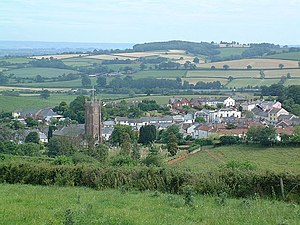 Bradninch - Image: Bradninch from Castle Hill geograph.org.uk 472656