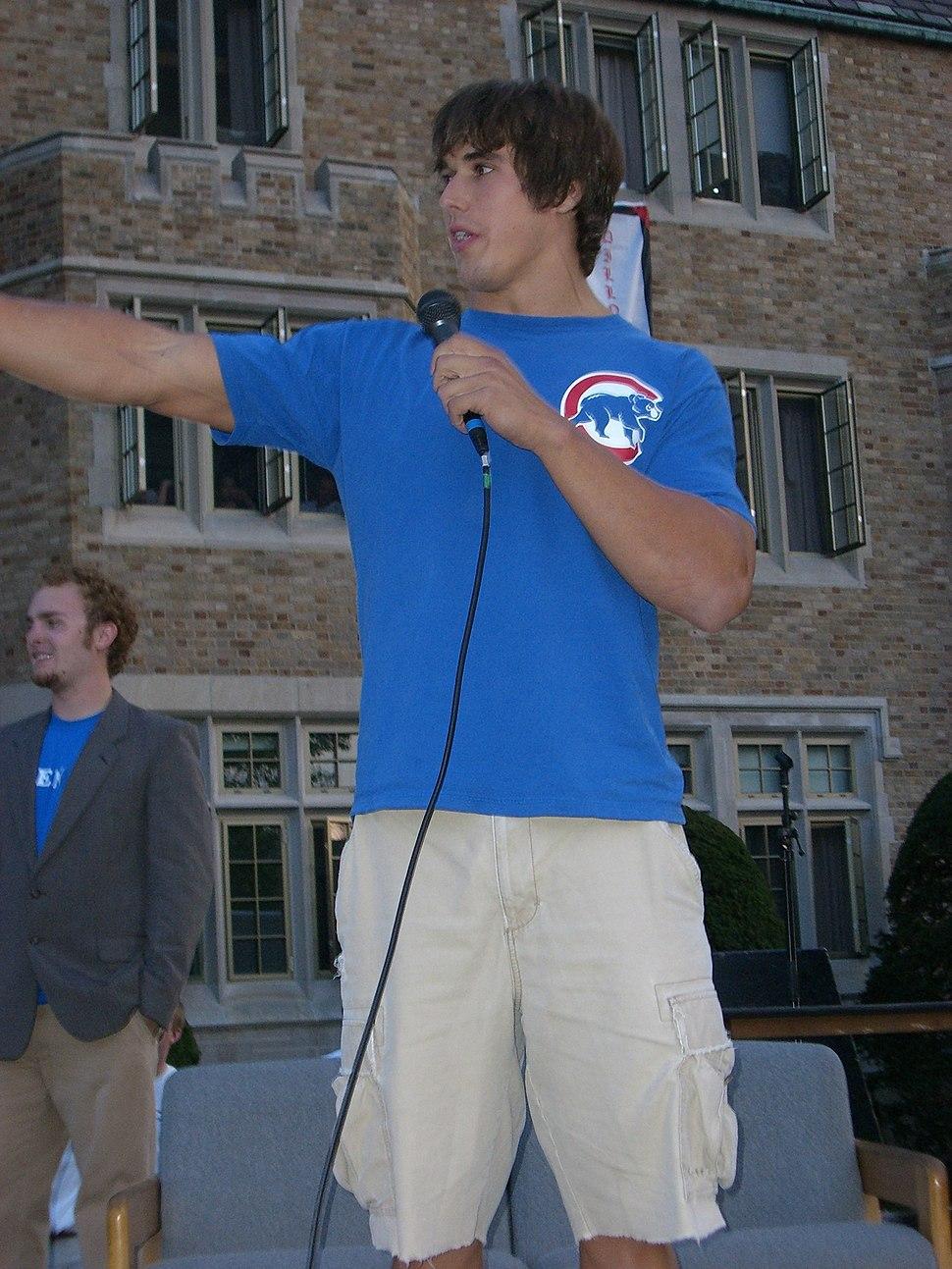 Brady Quinn at pep rally