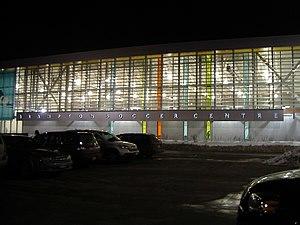 Brampton Soccer Centre - Centre at night