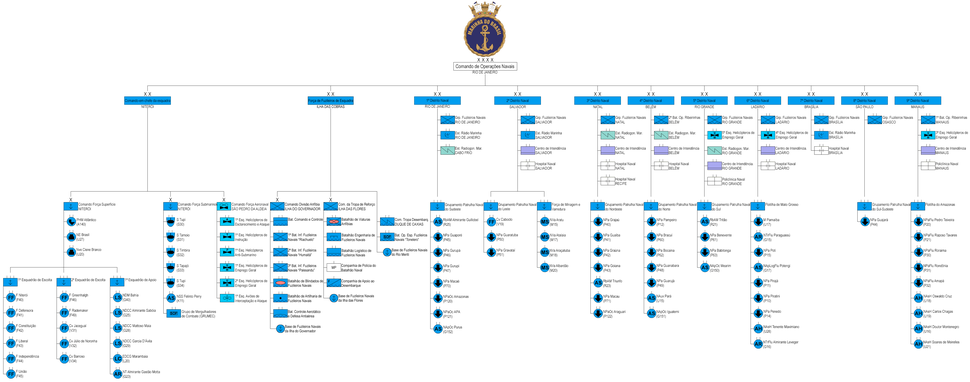 Operational structure of the Brazilian Navy