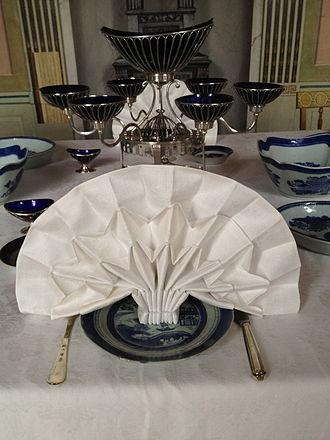 Napkin - A folded napkin